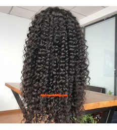 Brazilian virgin human hair Loose curl 360 wigs with pre plucked hairline--[MCW111]