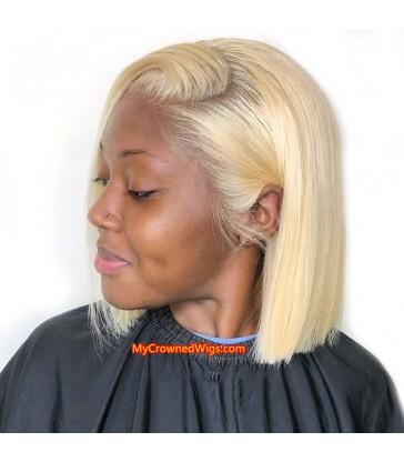 Brazilian virgin blonde color summer bob lace front wig -[MCWBB1]