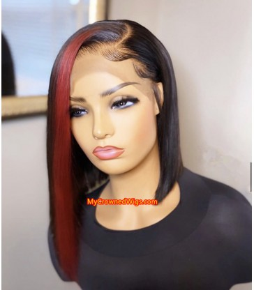 Highlight Bob Wig Side Part lace front wig 【HL002】