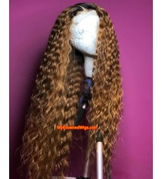Brazilian Virgin Ombre Color Mercy Wave Pre-plucked 360 Lace Wig 【MCWb1】