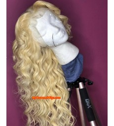 Brazilian virgin color 613 straight full lace wig [MCW289]