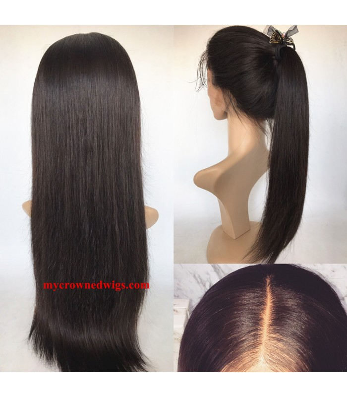 Brazilian virgin silk straight...