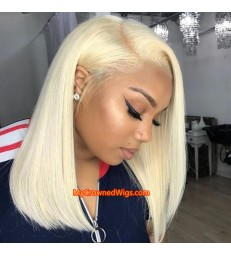 Brazilian virgin blonde color summer bob lace front wig -[MCWBB1]