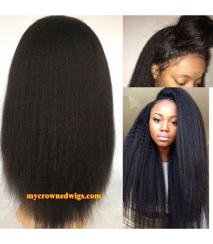 Brazilian Virgin Italian Yaki Lace Front Wig Mcw603 My Crowned Wigs