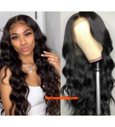 50% off---Pre Plucked Body Wave 360 Lace Frontal Wigs with Baby Hair 180% Density -[MCW367]