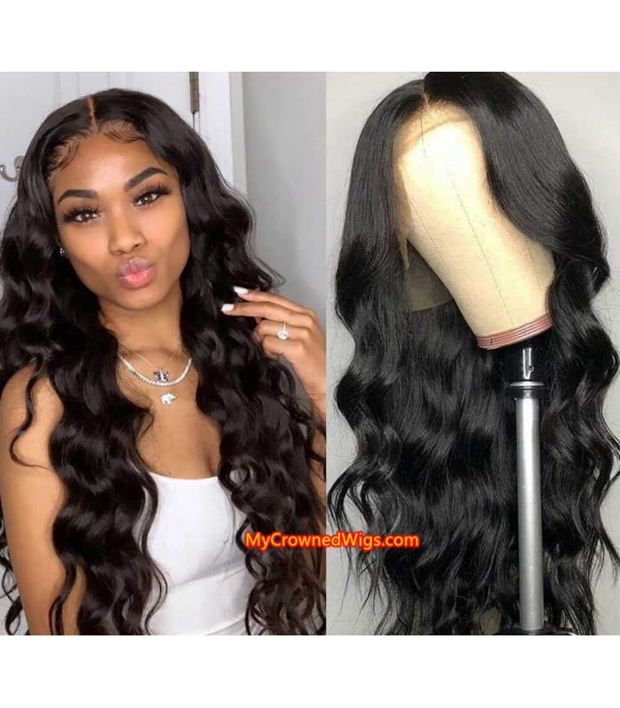 Brazilian virgin body wave 360 silk top frontal wig -[MCW367]
