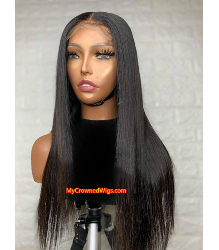 5*5 UNDETECTABLE HD LACE CLOSURE HUMAN HAIR WIG【hcw001】