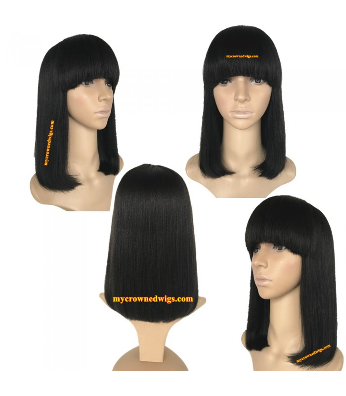 brazilian yaki hair machine made wig--[MCW801]