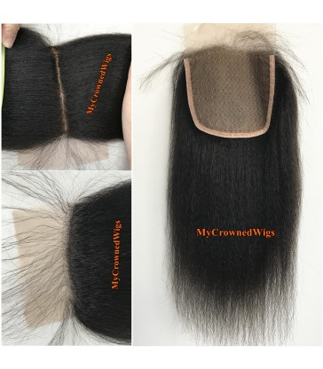 brazilian virgin italian yaki silk based closure--[MCW924]