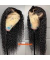 Brazilian virgin curly wave bleached knots lace front wig-[MCW606]