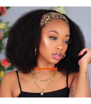 Afro Kinky Curly Virgin Human Hair Headband Wig [HW004]