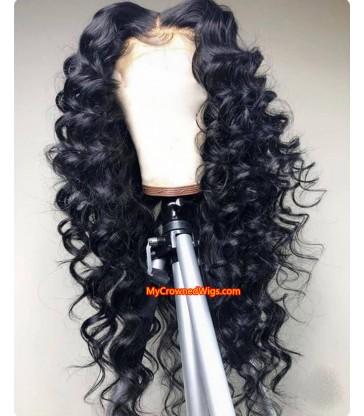 Brazilian virgin loose deep wave 360 frontal wig -[MCW352]