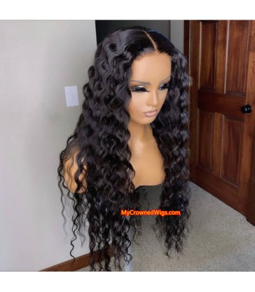 5*5 undetectable beyonce wave HD lace closure human hair wig【hcw004】