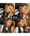 Pre-plucked 4*4 Closure Straight Lace Front Wig Virgin Human Hair [lc003]]
