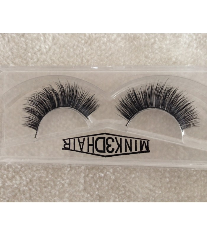 09e6e6d917f New 2 Pair 100% Mink Hair Long False Eyelashes Eye Lashes [MCW926]