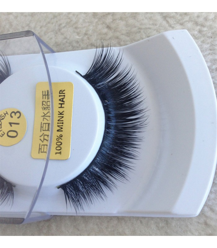1 Pair 100% Mink Hair Long False Eyelashes Eye Lashes Extens [MCW926]
