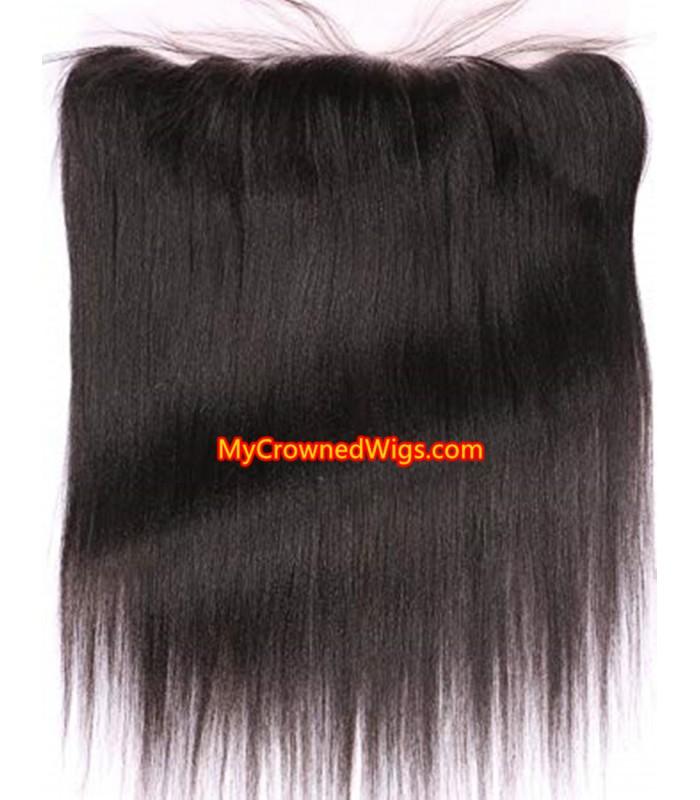 13*4 brazilian virgin light yaki lace frontal--[MCW932]