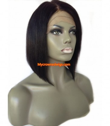 Summer BOB style--brazilian virgin silk straight full lace wig [mcwbb002]