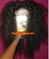 Brazilian virgin jerry curl 360 frontal wig -[MCW347]