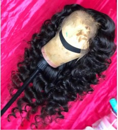 Brazilian virgin big wavy hair 360 frontal wig -[MCW350]