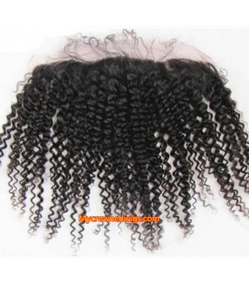 13*4 Brazilian virgin Spanish curl lace frontal--[MCW935]