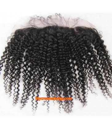 13*4 brazilian virgin deep wave lace frontal--[MCW909]