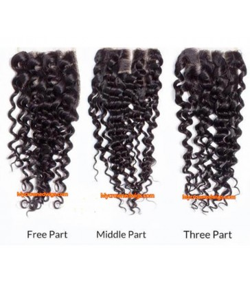 Brazilian virgin Spanish curl 4*4 lace closure--[MCW933]