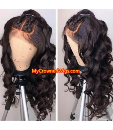 Brazilian virgin Ocean wave 360 frontal wig -[MCW354]