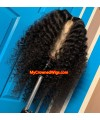 Brazilian virgin tight curl 360 wigs with pre plucked hairline--[MCW356]