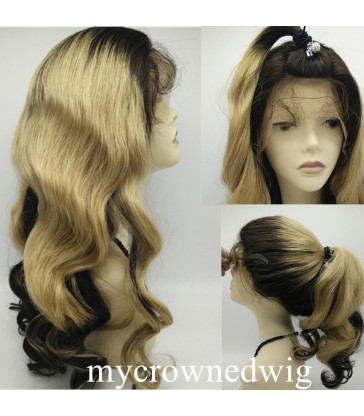 brazilian virgin two tones beyonce wave full lace wig-[tw9800]