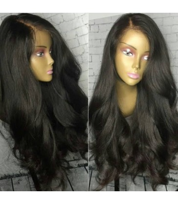 Peruvian virgin Natural wave natural color full lace wig-[mcw217]
