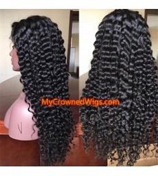Deep Wave 360 Wig Brazilian Virgin Hair -[MCW359]