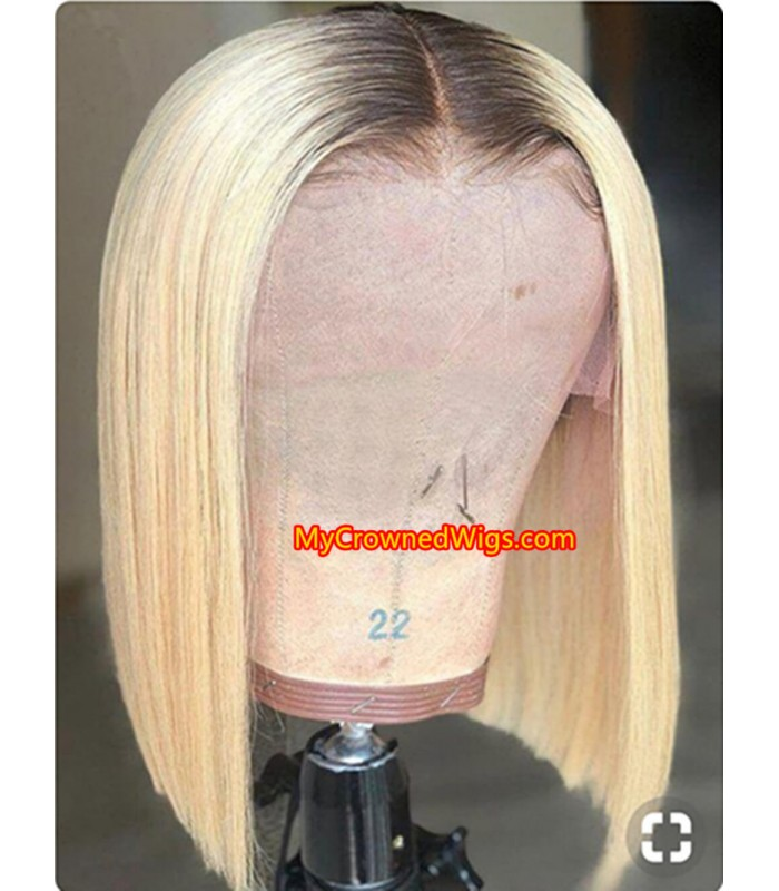 Brazilian virgin omber color summer bob lace front wig -[MCWBB3]