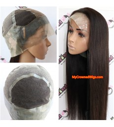 silicone cap human hair wig for cancer and alopecia [MCW007]
