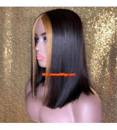 2*4 lace closure bob with highlights 【mcwb7】