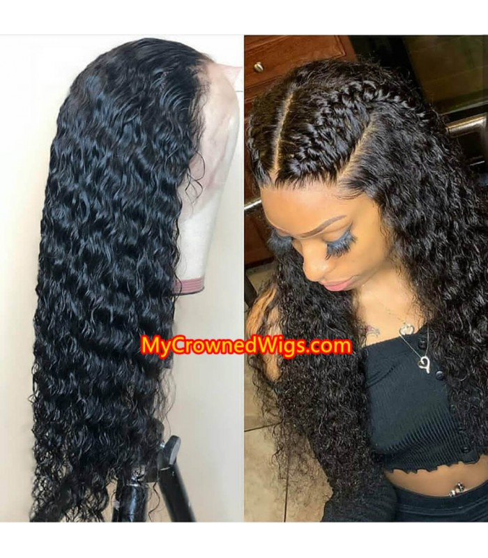 Brazilian virgin deep curly bleached knots full lace wig-[mcw266]