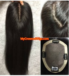 Silk top topper PU around hair [tp001]