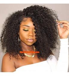 Brazilian virgin human hair kinky curl 360 frontal wig -[MCW355]