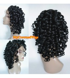 Malaysian virgin Loose curl bleached knots full lace wig-[mcw265]