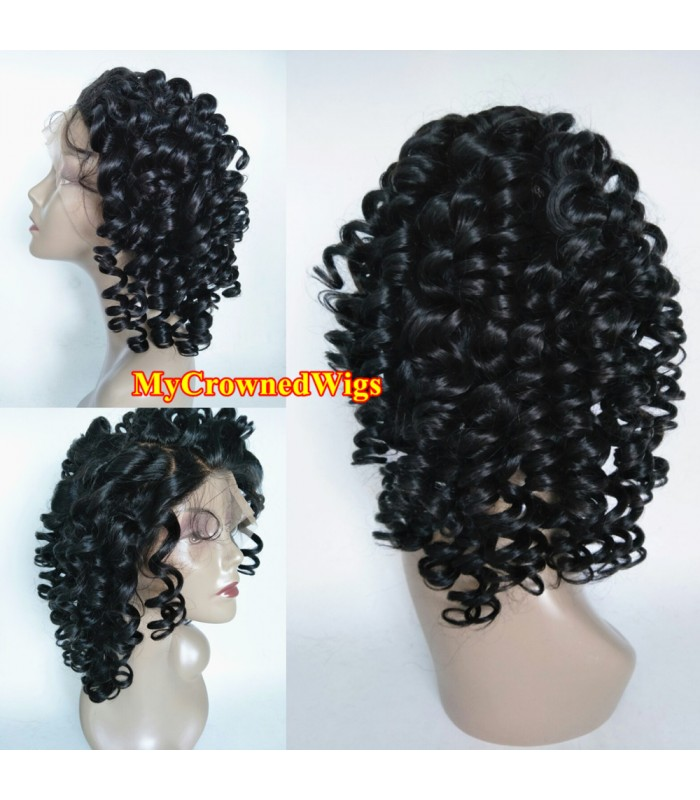 Malaysian virgin Loose curl bleached knots full lace wig