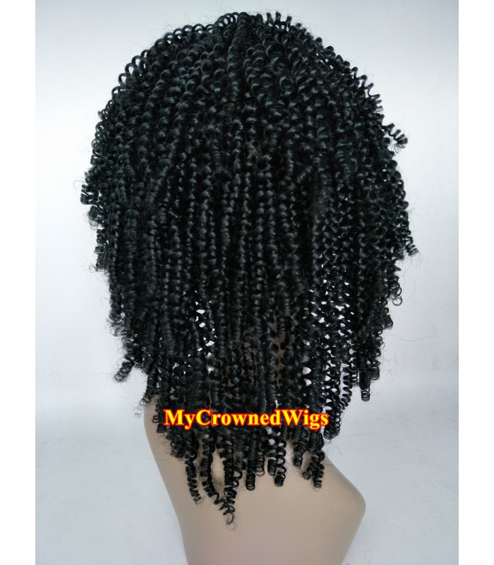 Brazilian virgin kinky curl bleached knots full lace wig