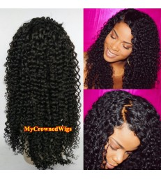 Brazilian virgin deep curl bleached knots full lace wig-[mcw288]