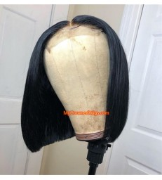 4*4 Straight bob lace Closure Wig Brazilian Virgin Hair【lc001】