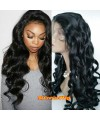 Brazilian virgin loose wave bleached knots full lace wig-[mcw215]