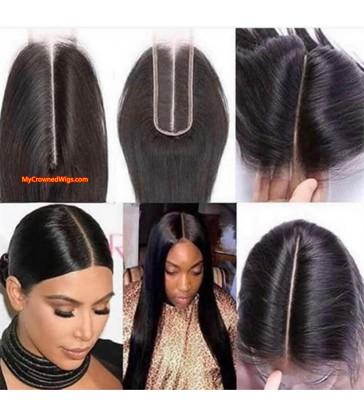 2*6 Lace Closure Straight Brazilian Virgin Hair