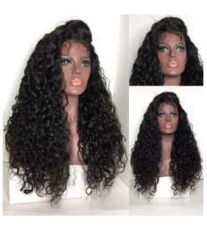 Brazilian virgin wet wave 360 frontal wig -[MCW364]