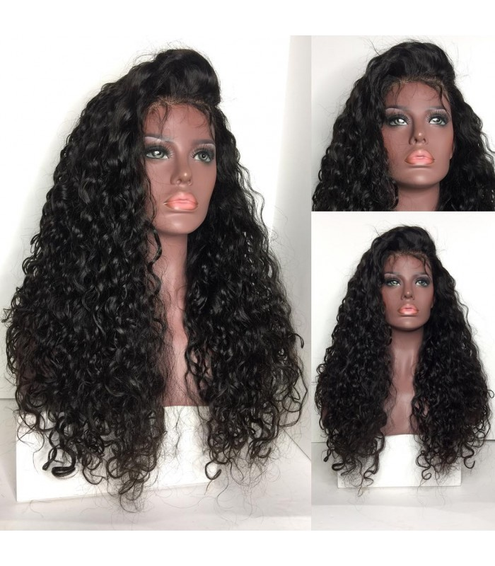 Brazilian virgin wet wave 360 silk top frontal wig -[MCW364]