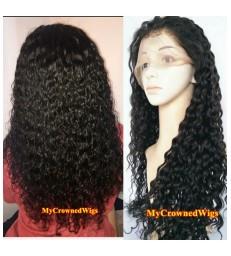 Brazilian virgin wet wave 360 frontal wig -[MCW364]