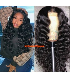 Brazilian virgin tight wave 360 frontal wig -[MCW352]