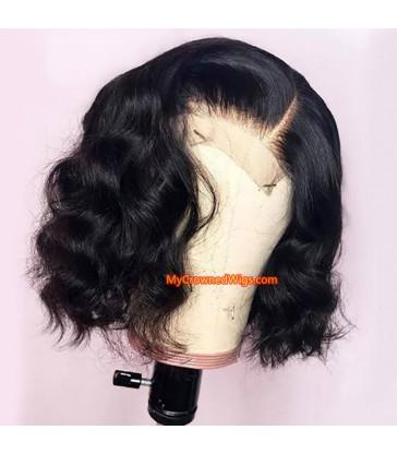 Short Bob Lace Front Wig Pre-Made Fake Scalp [lf008]
